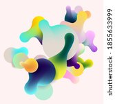 fluid colorful bubbles on white ...   Shutterstock .eps vector #1855633999