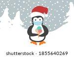 christmas card concept. cute...   Shutterstock .eps vector #1855640269