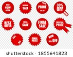 set of red vector isolated... | Shutterstock .eps vector #1855641823