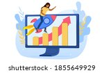 internet website promotion  seo ... | Shutterstock .eps vector #1855649929