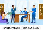 lunch time concept. diverse... | Shutterstock .eps vector #1855651639