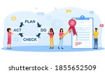 iso 9001 quality management... | Shutterstock .eps vector #1855652509