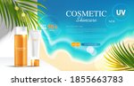 sunblock ads template  sun...   Shutterstock .eps vector #1855663783