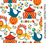 seamless pattern with cute... | Shutterstock . vector #185567993