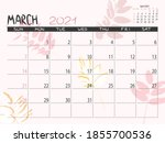 calendar 2021 year. march 2021...   Shutterstock .eps vector #1855700536