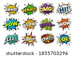 blast sounds  comic pop art... | Shutterstock .eps vector #1855703296