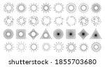 sun line burst in circle ... | Shutterstock .eps vector #1855703680