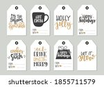 set with merry christmas and... | Shutterstock .eps vector #1855711579