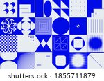 brutalism design abstract... | Shutterstock .eps vector #1855711879