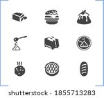bakery icon set and cookie with ...