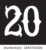 isolated number 20. white... | Shutterstock .eps vector #1855726306