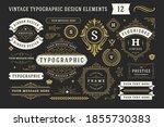 vintage typographic decorative... | Shutterstock .eps vector #1855730383