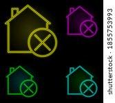 house percent neon color set...