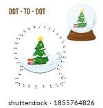 dot to dot game for kids home... | Shutterstock .eps vector #1855764826