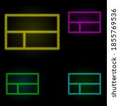 layout sign neon color set icon....