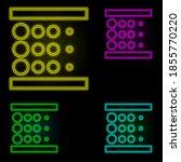 blur sign neon color set icon....