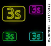 timer sign neon color set icon. ...