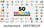 50 colorful infographic... | Shutterstock .eps vector #1855780129