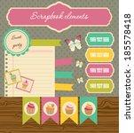 set of elements for scrapbook | Shutterstock .eps vector #185578418