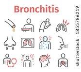 bronchitis line icons....   Shutterstock .eps vector #1855786219