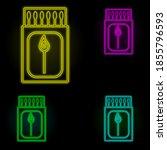 matches neon color set icon....