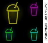 plastic beverage cup neon color ...