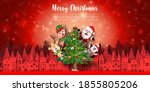 merry christmas and happy new...   Shutterstock .eps vector #1855805206
