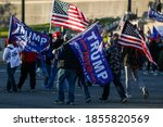 Small photo of Washington, DC / USA - Nov. 14, 2020: Thousands of Trump supporters gather at the Supreme Court to show their support for President Trump after the election.
