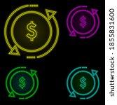 dollar  arrow  investment icon...
