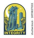 integrity slogan print design... | Shutterstock .eps vector #1855837033