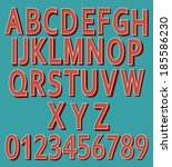 retro letters and numbers retro | Shutterstock .eps vector #185586230