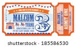 ticket birthday card invitation ... | Shutterstock .eps vector #185586530
