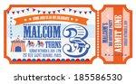ticket birthday card invitation ... | Shutterstock .eps vector #185586530