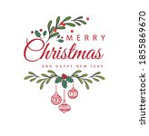 merry christmas with a happy... | Shutterstock .eps vector #1855869670