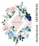 classic blue rose  blush pink... | Shutterstock .eps vector #1855874656