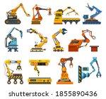 arms robot  factory machine... | Shutterstock .eps vector #1855890436