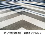 White Converging Lines On A...