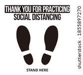 thank you for practicing social ... | Shutterstock .eps vector #1855897270