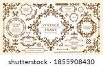 royal monogram frame. hand...   Shutterstock .eps vector #1855908430