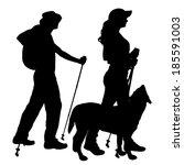 vector silhouette of people... | Shutterstock .eps vector #185591003