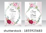 beautiful hand drawing wedding... | Shutterstock .eps vector #1855925683