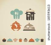 cooking symbols | Shutterstock .eps vector #185593613