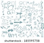 arrow freehand vector | Shutterstock .eps vector #185595758