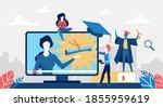 online education concept vector ... | Shutterstock .eps vector #1855959619