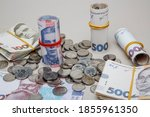 Background From Banknotes And...