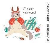 persian cat celebrating...   Shutterstock .eps vector #1855966450