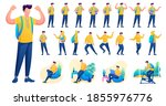 presentation in various poses... | Shutterstock .eps vector #1855976776