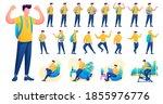 presentation in various poses... | Shutterstock .eps vector #1855976776
