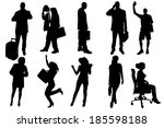 vector silhouettes of business... | Shutterstock .eps vector #185598188