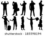vector silhouettes of business... | Shutterstock .eps vector #185598194